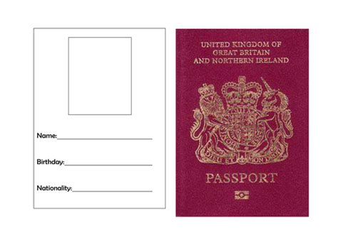 template of passport passport template by torstout teaching resources tes