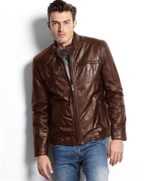mens moto jacket mens brown leather moto jacket jacket to
