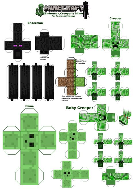 Minecraft Papercraft Size - mine craft paper paper crafts