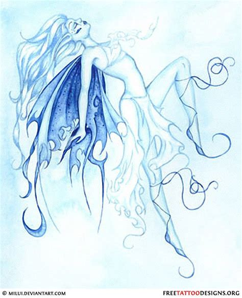 blue fairy tattoo designs blue design tattoos