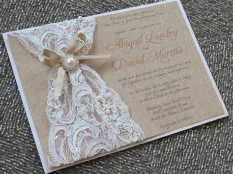 abigail lace burlap wedding invitation customizable - Lace And Burlap Wedding Invitations