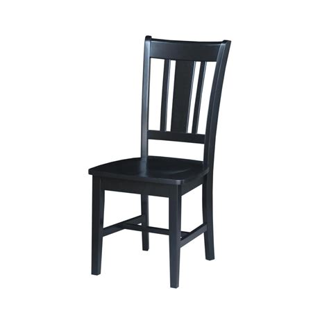 Black Wooden Dining Chairs - home styles white wash wood x back dining chair set of 2
