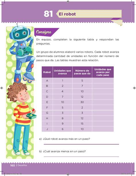 libro de matematicas contestado quinto grado el robot desaf 237 os matem 225 ticos 5to bloque 5 apoyo primaria