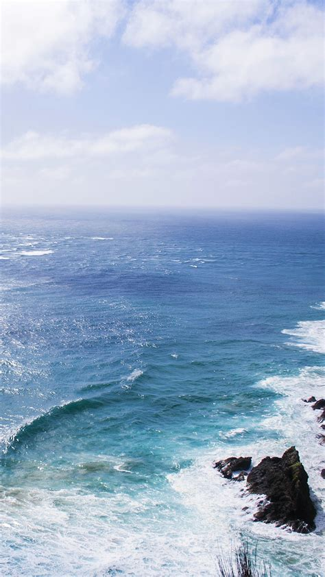 papersco iphone wallpaper mz nature sea blue wave