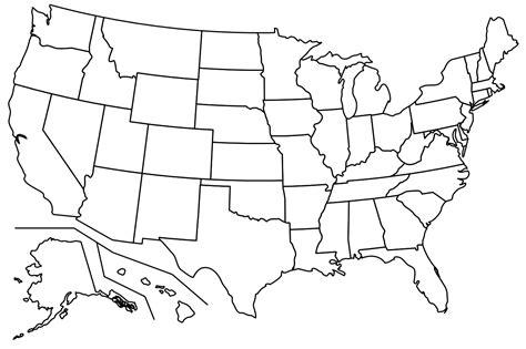 empty map usa blank map of usa