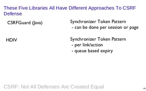 Synchronizer Token Pattern Java Exle | csrf not all defenses are created equal