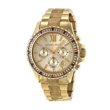 Jam Tangan Wanita Michael Kors Analog 002 jual michael kors everest chagne gold and horn mk5874 jam tangan wanita harga