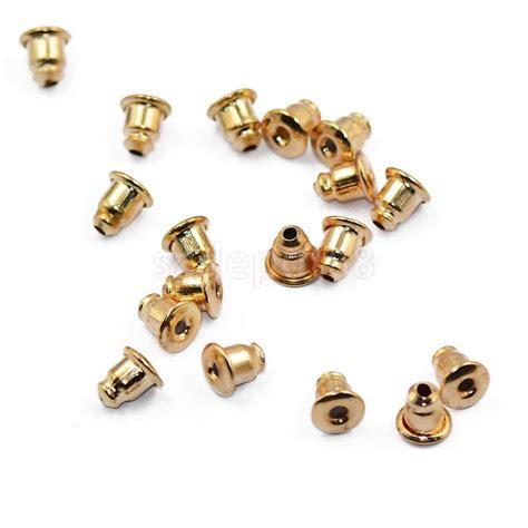 50x earring back ear nut stopper jewelery finding gold