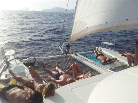ibiza boat trips ibiza to formentera on sailing boat - Catamaran Boat Trip Ibiza Formentera