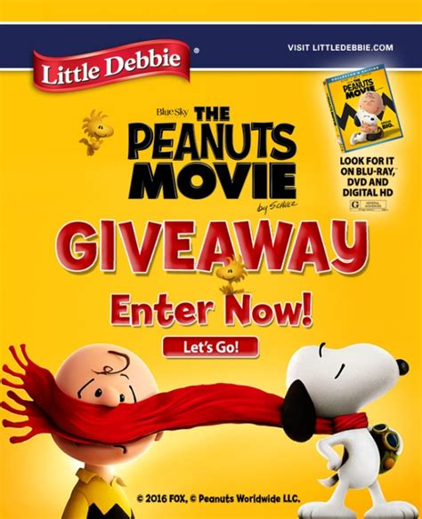 Little Debbie Key West Giveaway - newsflash feb 2016 the peanuts movie giveaway little debbie
