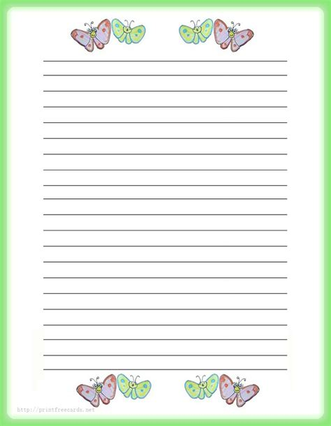 Paper With Children - stationery paper stationery free printable writing