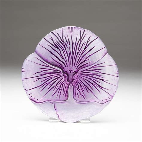 canape violet pansy canape plate two tone purple