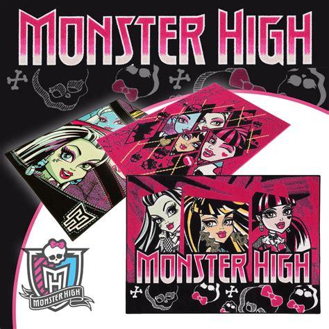 teppiche münster teppich kinderteppich monsters high 3 designs spielteppich
