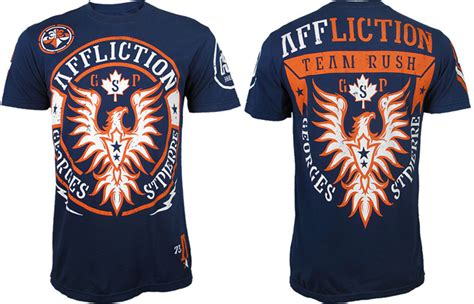 Venum Navy St Yn Style affliction georges st ufc 154 walkout shirt