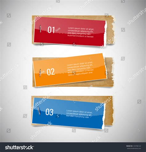 staples banner template vector torn glossy paper used stock vector 125706122
