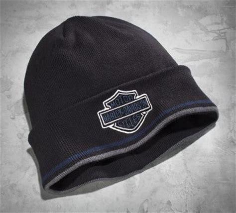 harley davidson knit hat s bar shield logo cuff knit hat cold weather