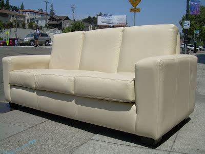 The Leather Factory Sofa by Uhuru Furniture Collectibles Sold Leather Factory