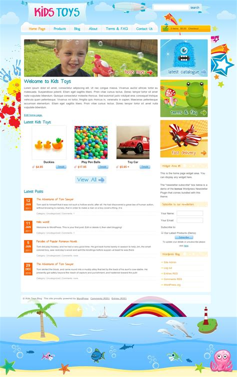 website templates for children s books kids toys shop wordpress by dtbaker themeforest