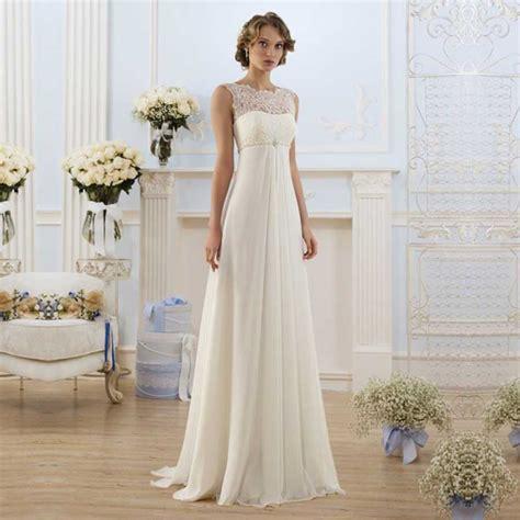 hochzeitskleid empire elegant bridal pregnant gowns cheap chiffon empire waist