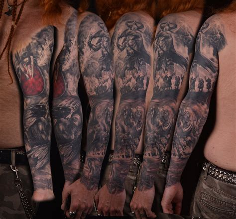 heavy metal tattoos mikael s 2nd metal sleeve by viptattoo on deviantart