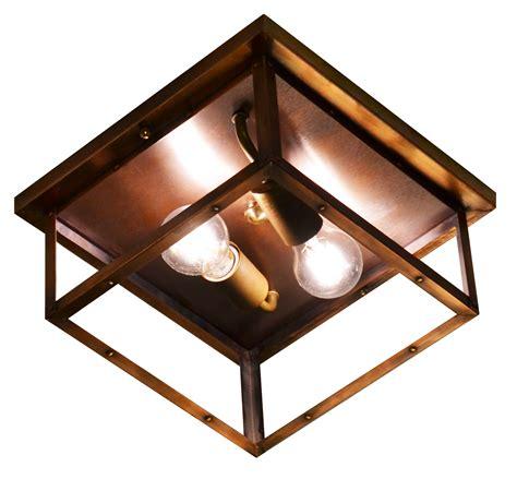 copper flush mount ceiling lights the coppersmith 4 side copper ceiling light 4 side copper