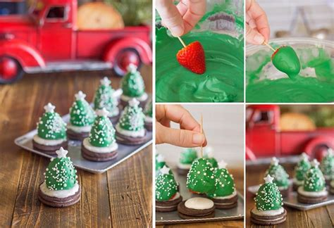 chocolate covered strawberry christmas trees diy recipe