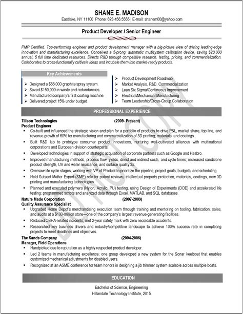 product engineer resume sle frudgereport722 web fc2