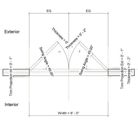 swing door detail revitcity com object double flush adjustable swing