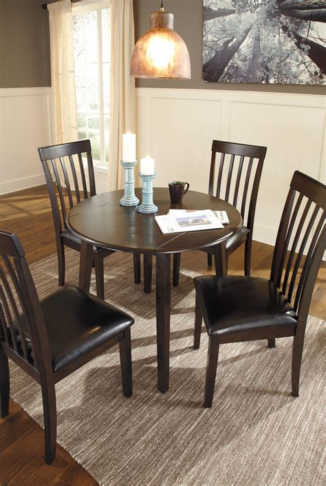round dining room sets with leaf 5 piece round drop leaf table set by signature design by