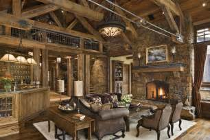 Rustic Home Decorating Ideas Living Room by Rustic House Design In Western Style Ontario Residence