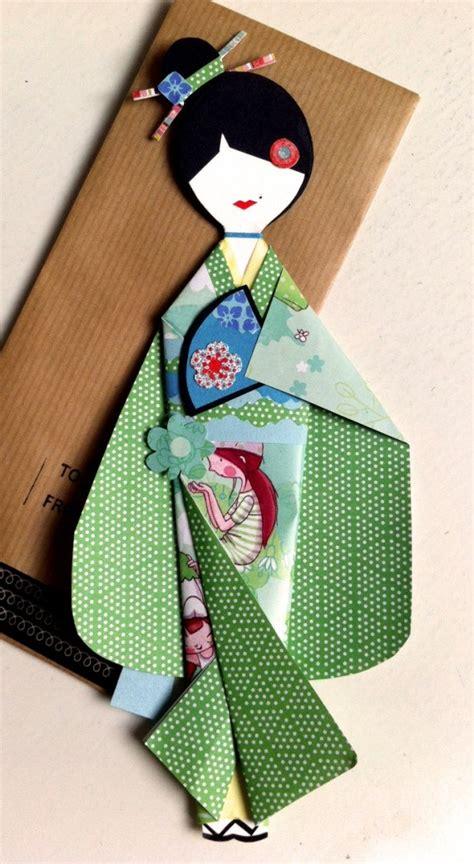 Paper Doll Origami - mu 241 equita de papel verde papel origami papel