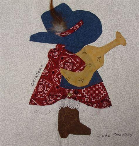 Sunbonnet Sue Quilt Block Pattern by Nifty Fifty Sun Bonnet Sue S Cowboy Quilt Ideas