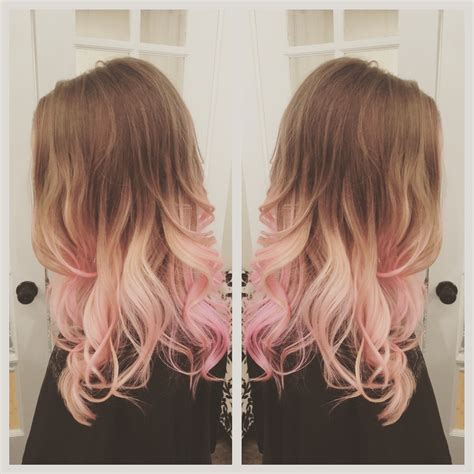 light tips pink hair balayage ombr 233 hair before after s