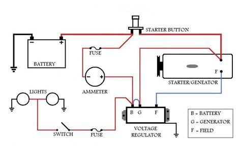 motor tractor starter wiring ford lawn generator motor