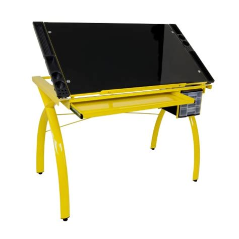 Futura Drafting Table Studio Designs Futura Drafting Table With Glass Top Jet