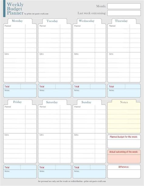 printable budget planner ireland weekly budget planner yes even those 5 starbucks get