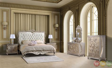 classic style button tufted queen size metallic bedroom sets  sale homey design
