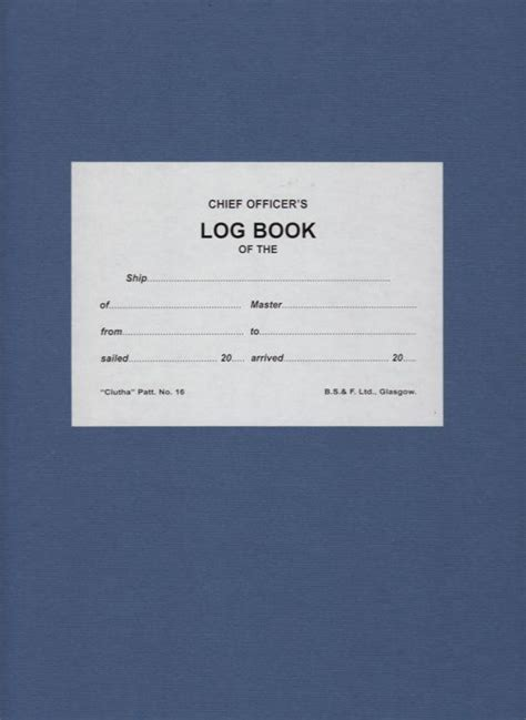 libro the log book getting librer 237 a n 225 utica robinson log book no 16 quot clutha quot 6 months diario de navegaci 243 n quot chief