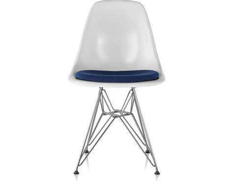 eames wire base side chair  seat pad hivemoderncom