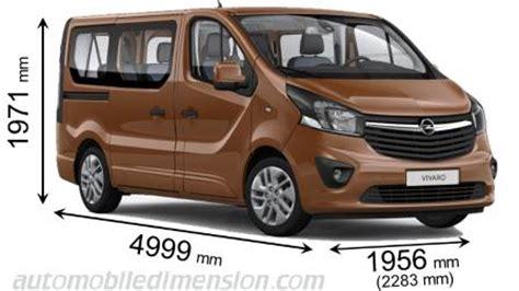 opel vivaro combi 2015 dimensions boot space and interior