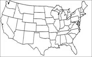 Blank 50 states map quiz
