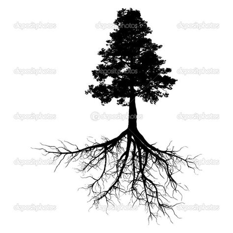 tree with roots tattoo tree roots black ink tree design with roots design