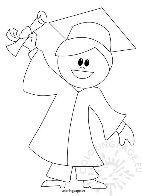 child graduation cartoon coloring page