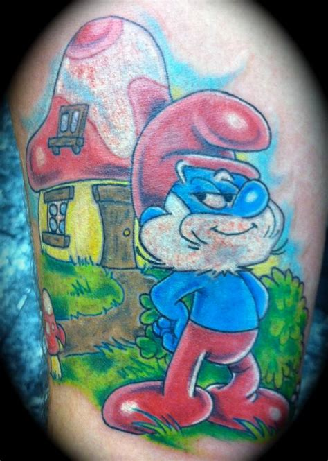 smurf tattoo designs papa smurf by shannon tattoonow