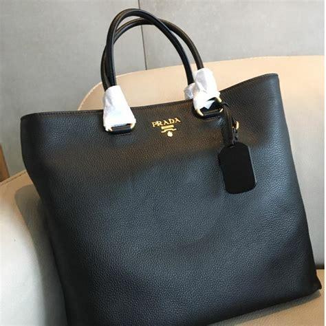Tote Bag Prada prada 1bg865 vitello phenix black tote bag on tradesy