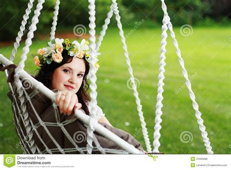 swinging naturals fairy girl royalty free stock image image 31683686
