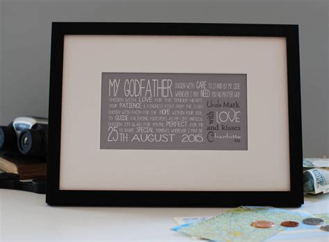 personalised godparent gift by a touch of verse