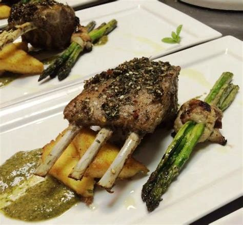 Rack Of With Mint Pesto by Rack With Mint Pesto Polenta And Asparagus Picture