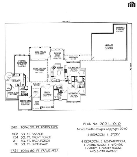 customize floor plans 2621 1010 4 bedroom 1 story house plan