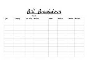 list of bills to pay template printable templates for bills due search results
